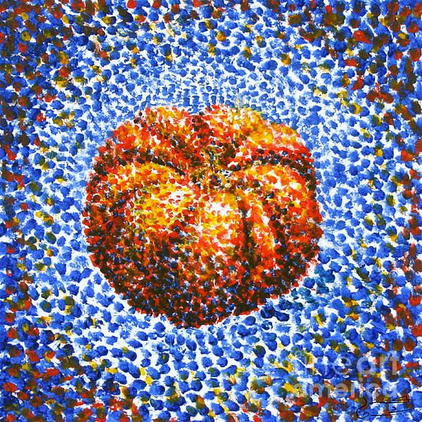 pointillism pumpkins with markers