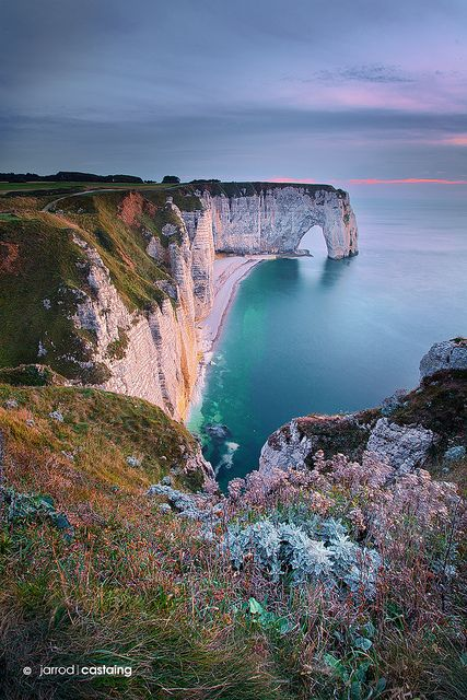 Cliffs of Etretat, Normandy, France; photo by Jarrod Castaing