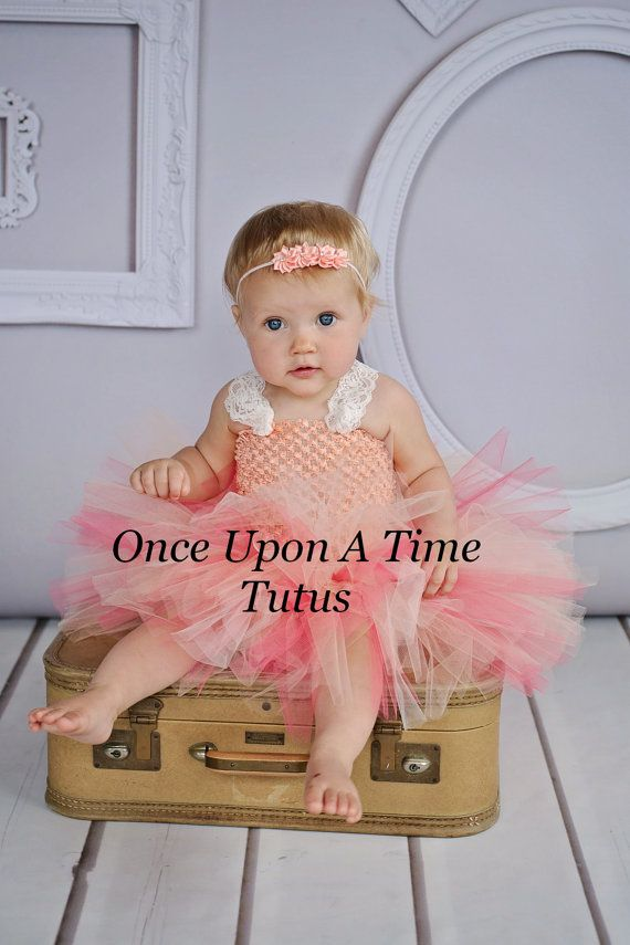 ready to ship pretty peach tutu dress girls size baby newborn 3 6 9 12 18 24 months 6 coral ivory lace girls - 4t Halloween Costumes Girls