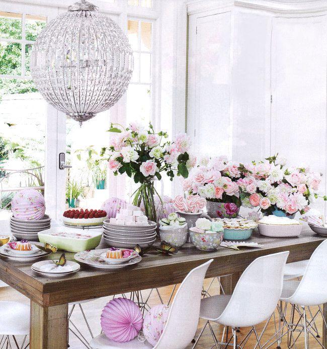pink, pink, party: Party Time, Tea Party, Tea Time, Teas, High Tea, Table Setting, Tea Parties, Flower, Party Ideas