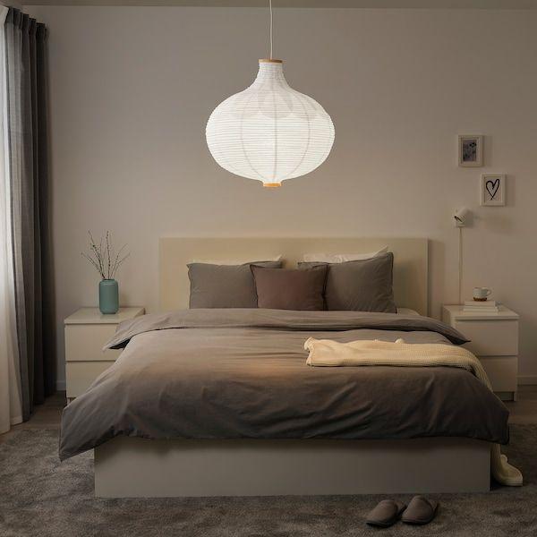 Risbyn Abat Jour Suspension Forme D Oignon Blanc 57 Cm Ikea Abat Jour Suspension Abat Jour Lampe Lampe En Papier