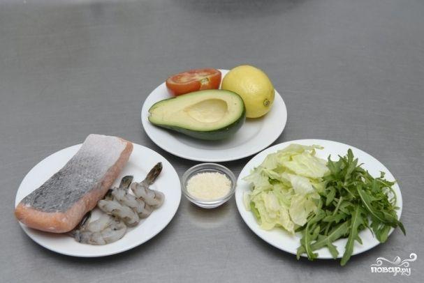 Рецепт салата с семгой авокадо и сыром филадельфия