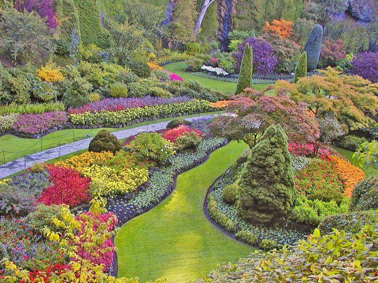 Sunken Garden. #ExploreVictoria #ButchartGardens