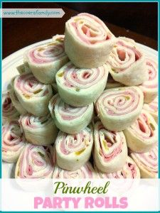 Pinwheel Party Rolls - With only 4 ingredients these are inexpensive and simple, but also full of flavor.