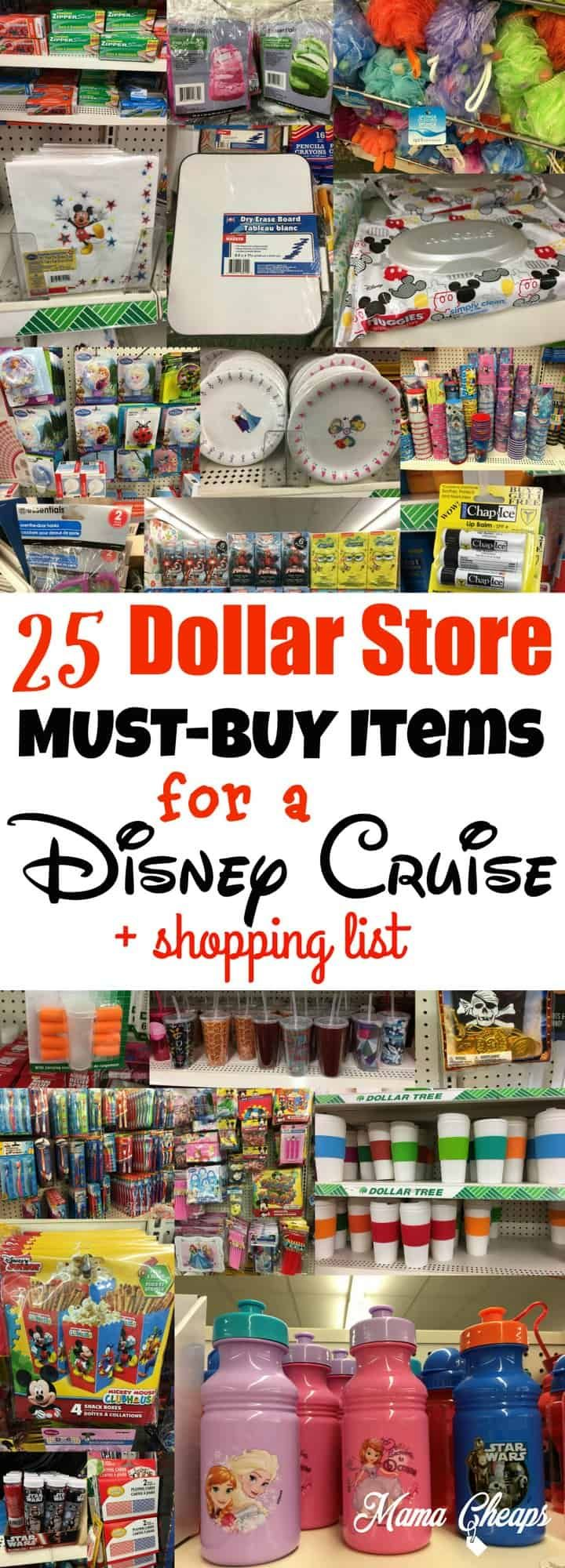 25 Dollar Store MUST-BUY Items for a Disney Cruise