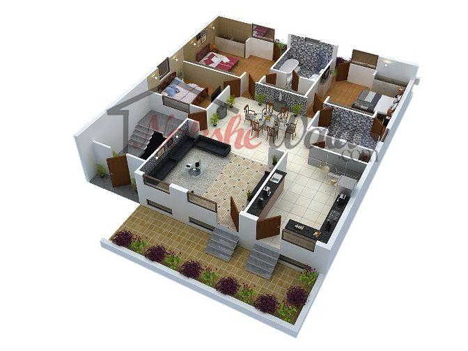 3D Floor Plans, 3D House Design, 3D House Plan, Customized 3D Home Design, 3D House Map