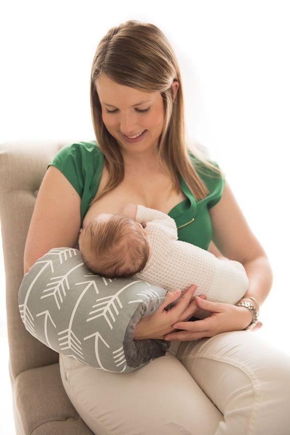 NURSIE® ORIGINAL Arm Nursing Pillow/ Gray by FromMeinhartToYours