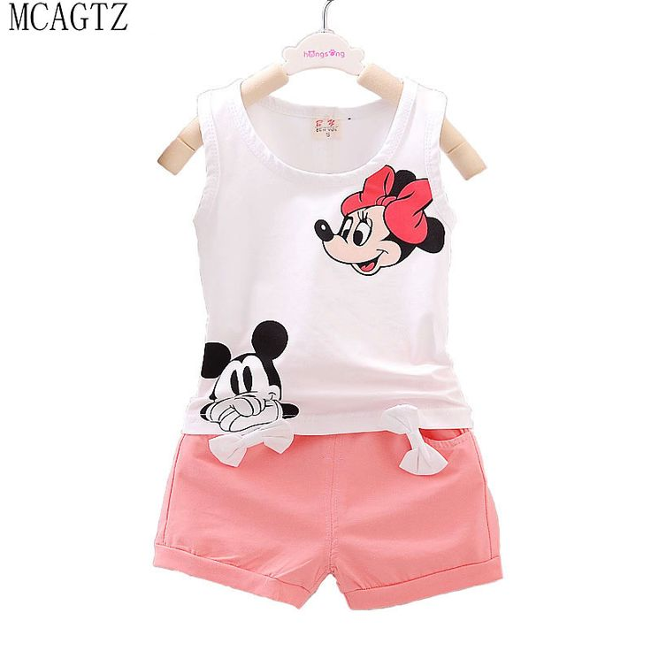 2016 Minnie Spring Baby Clothing Sets Children Boys Girls Kids Brand Sport Suits Tracksuits Cotton Short + Pants 2pcs //Price: €9.02 & FREE Shipping //   #fashion #baby #clothes #trendy #2017