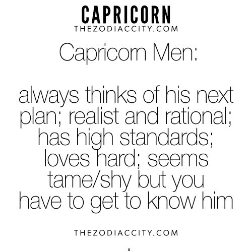 Zodiac Capricorn Men. For more interesting facts on the zodiac signs, click here.