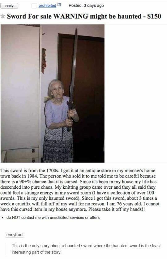 Haunted Sword
