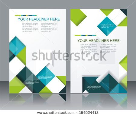Vector  brochure template design with cubes and arrows elements. by LFor, via Shutterstock