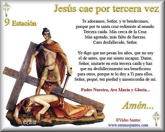 Imágenes de Cecill: Estaciones del Via Crucis † 9- Jesús cáe por tercera vez