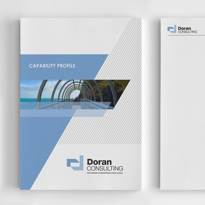 Company profile report cover for engineering consultancy for Design consultancy