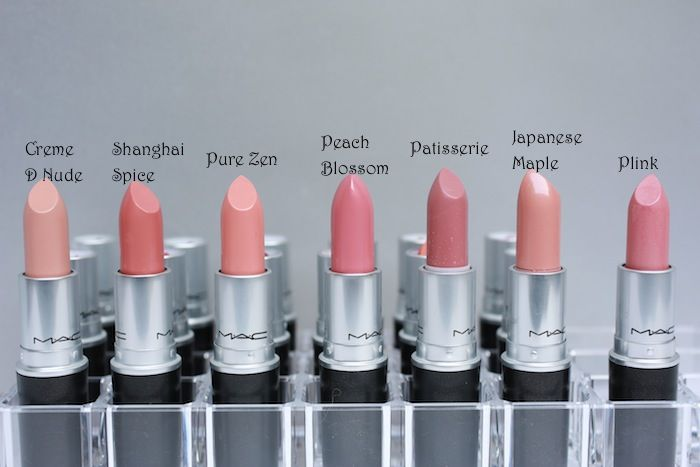MAC lipstick swatches - we are loving these classic colours ranging from blush pinks to nudes...x