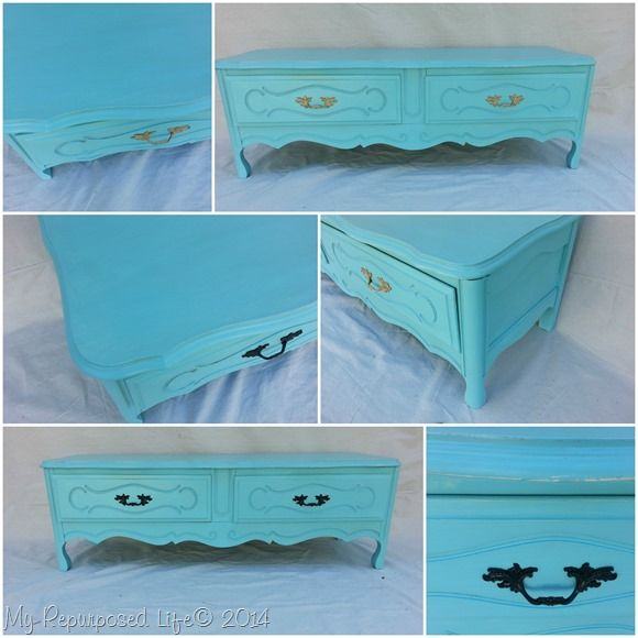 french-provincial-dresser-repurposed-bench