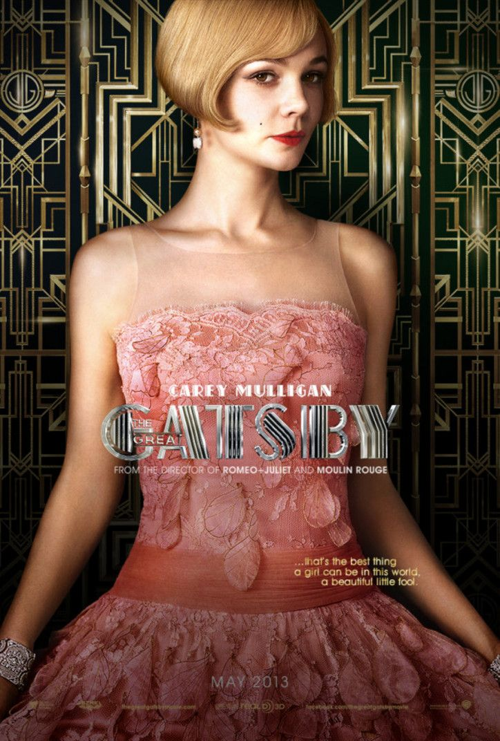 promotion poster of the Great Gatsby movie, 2013 with Carey Mulligan