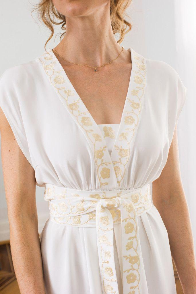 Kostenloses Schnittmuster und Stickmotive zum Nähen eines Brautkleides (Gr. 36 - 44) | free sewing pattern for a wedding dress