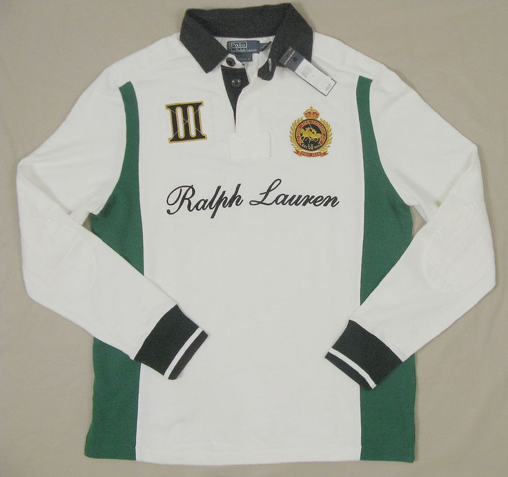 NEW! $165 Polo Ralph Lauren Snow Polo Challenge Cup Rugby Shirt! Custom Fit   Clothing, Shoes & Accessories, Men's Clothing, Casual Shirts   eBay!
