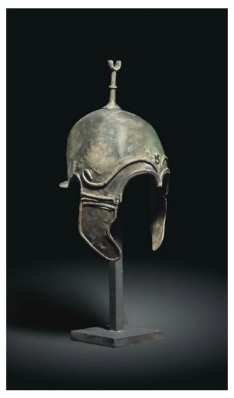 A Celtiberian helmet of chalcidian type, found in the province of Zaragoza, Spain (illegaly taken out of the country and erroneously sold in an Auction as greek)