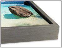 Argent cadre flottant pour la toile, aluminium ou forex impression