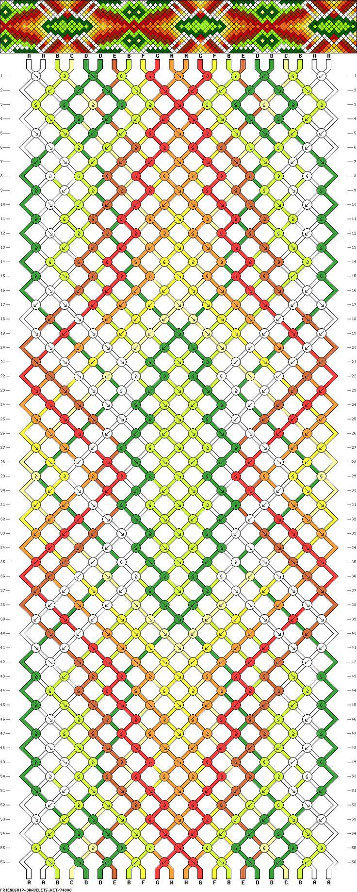 Muster # 74888, Streicher: 22 Zeilen: 56 Farben: 8