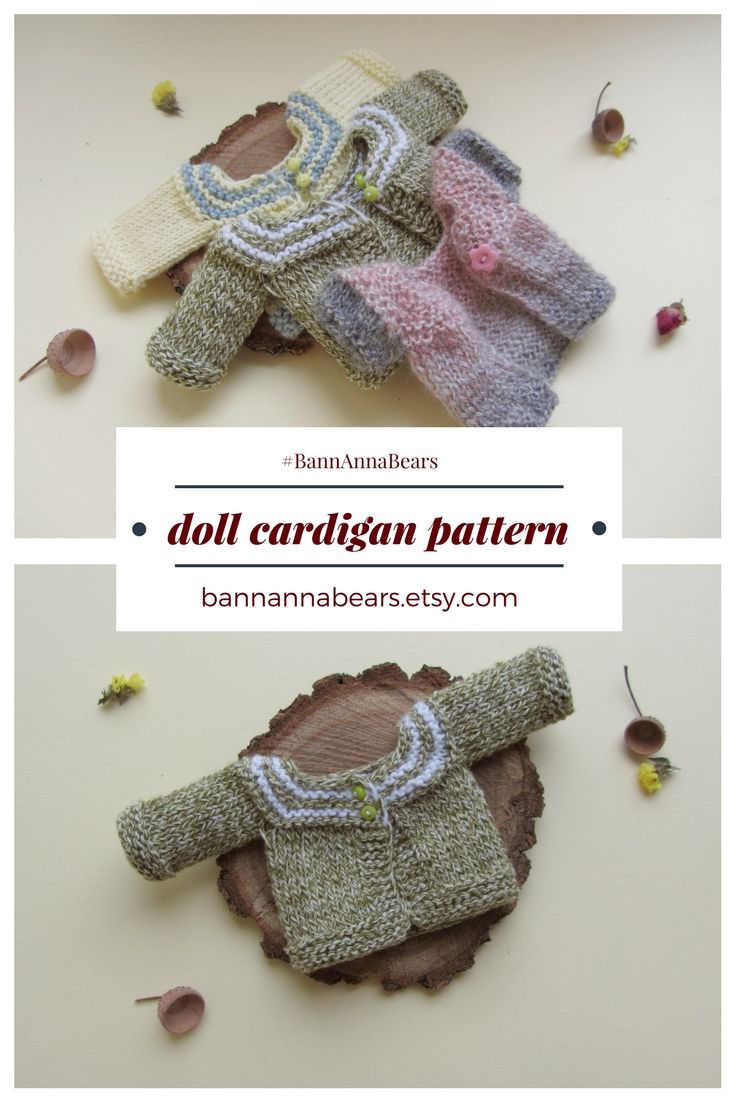 Doll knit clothes pattern Blythe knitting pattern Teddy bear clothes ...