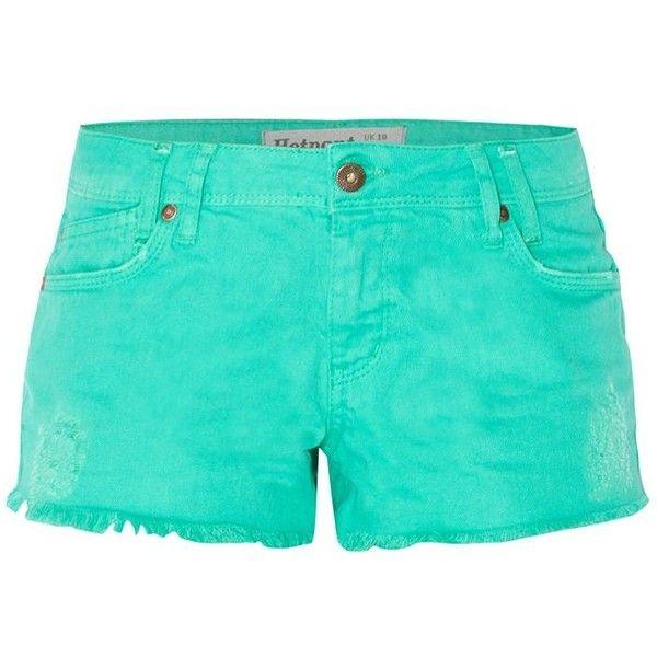Mint Green Frayed Edge Hot Pants