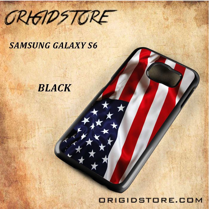 American Flag Black White Snap On Or 3D For Samsung Galaxy S6