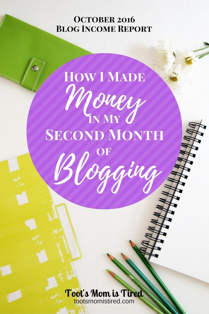 How I Made Money in my Second Month of Blogging | October 2016 blog income report | make money blogging, blogging tips
