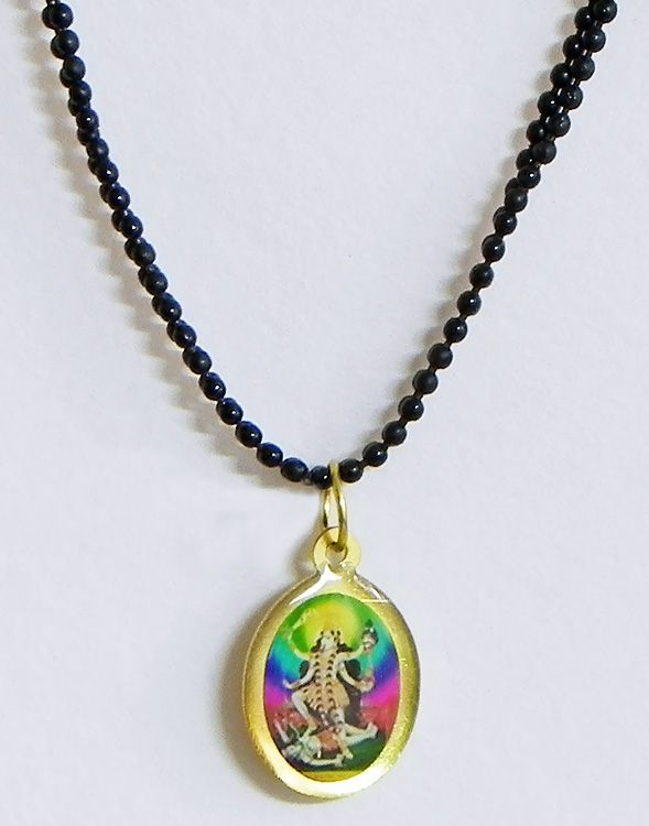 Black Chain with Kali Pendant (Metal And Acrylic)