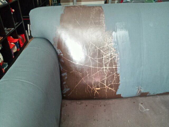 Yes, you read the title correctly!  We have a customer, Denise, that used Annie Sloan Chalk Paint on her leather couch and chair!  We couldn...