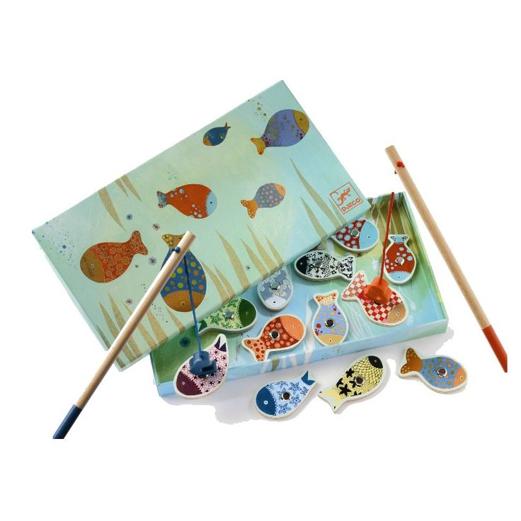 Djeco Enchanted Magnetic Wooden Fishing Game