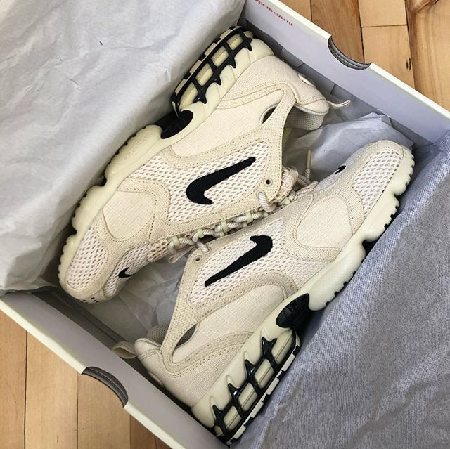 Nike Air Zoom Spiridon Cage 2 Stussy Fossil women shoes sneakers ...