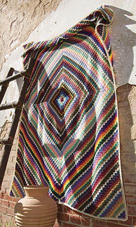 Crochet! Magazine: Afghan & Throws Pattern of the Month: June - Eye Dazzler Afghan by Margret Willson - free crochet pattern.