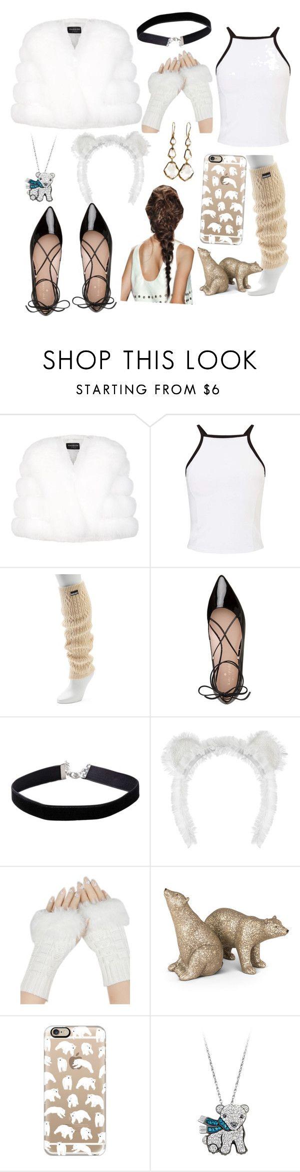 """Polar bear last minute Halloween costume"" by fiercekitten ❤ liked on Polyvore featuring Harrods, Miss Selfridge, Muk Luks, Kate Spade, Casetify and Ippolita"