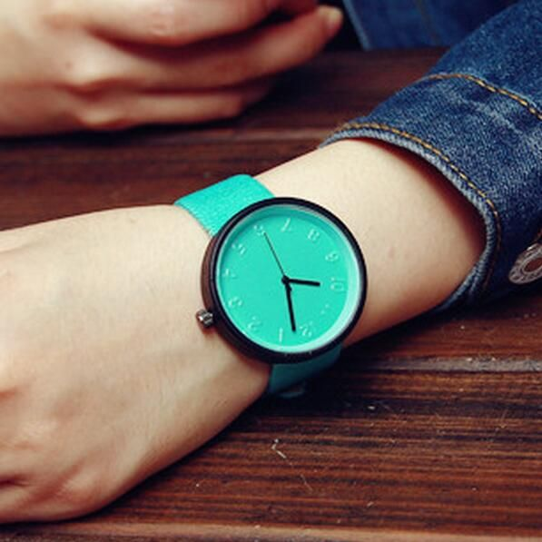 Find More Women's Watches Information about Simple fashion PU leather ladies…