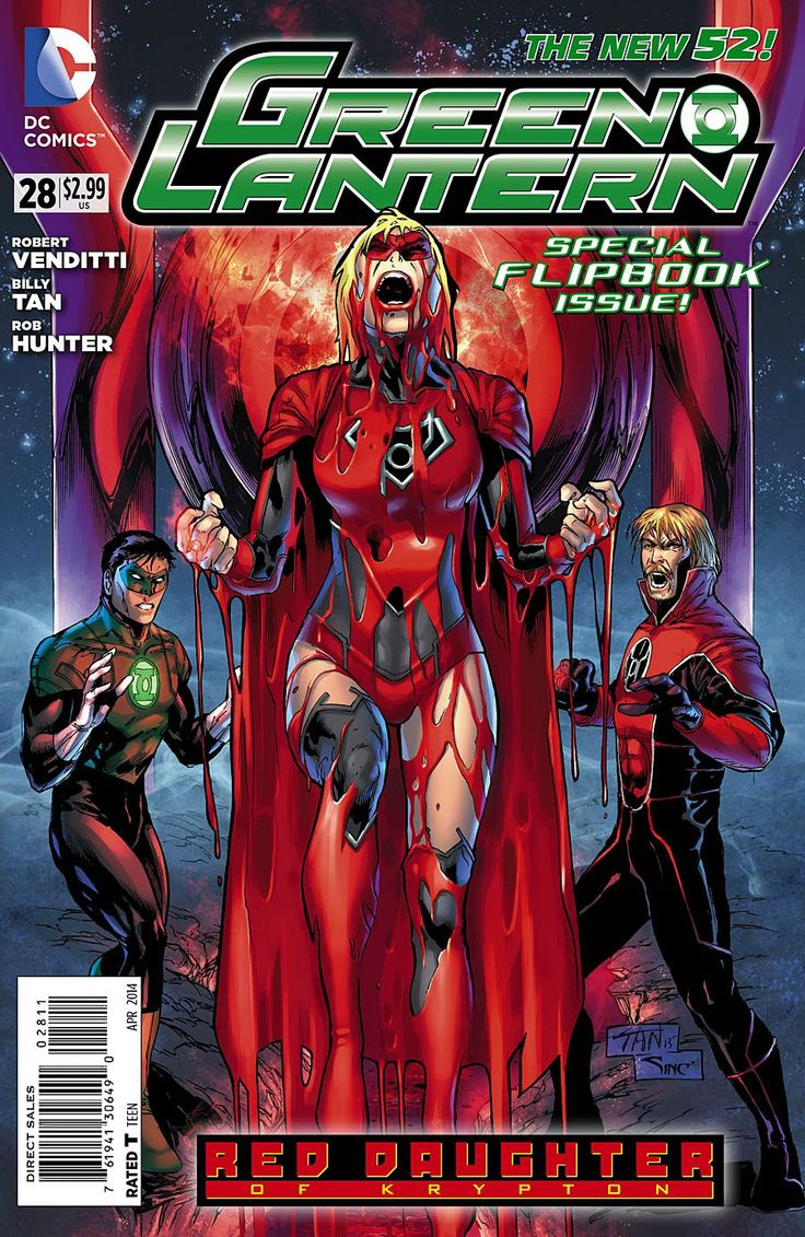"""Red Lantern Supergirl - """"Red Daughter of Krypton"""""""
