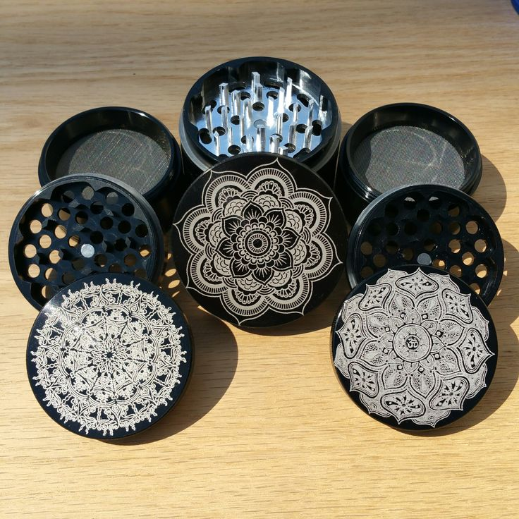 Black 55mm Multi-tooth's and a 62mm Sharp-tooth Custom Herb Grinder. This is a Customer Submitted design. This smoking accessory is one of the most badass top shelf grinders in the cannabis industry today to make your own grinder check out customherbgrinders.com