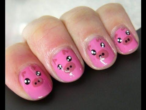 Diseño de uñas 22 ╫ Oso Panda estilo kawaii (Panda nail art)╫