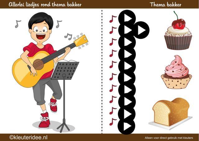 Allerlei liedjes rond thema de bakker, kleuteridee, by juf Petra (interactief)