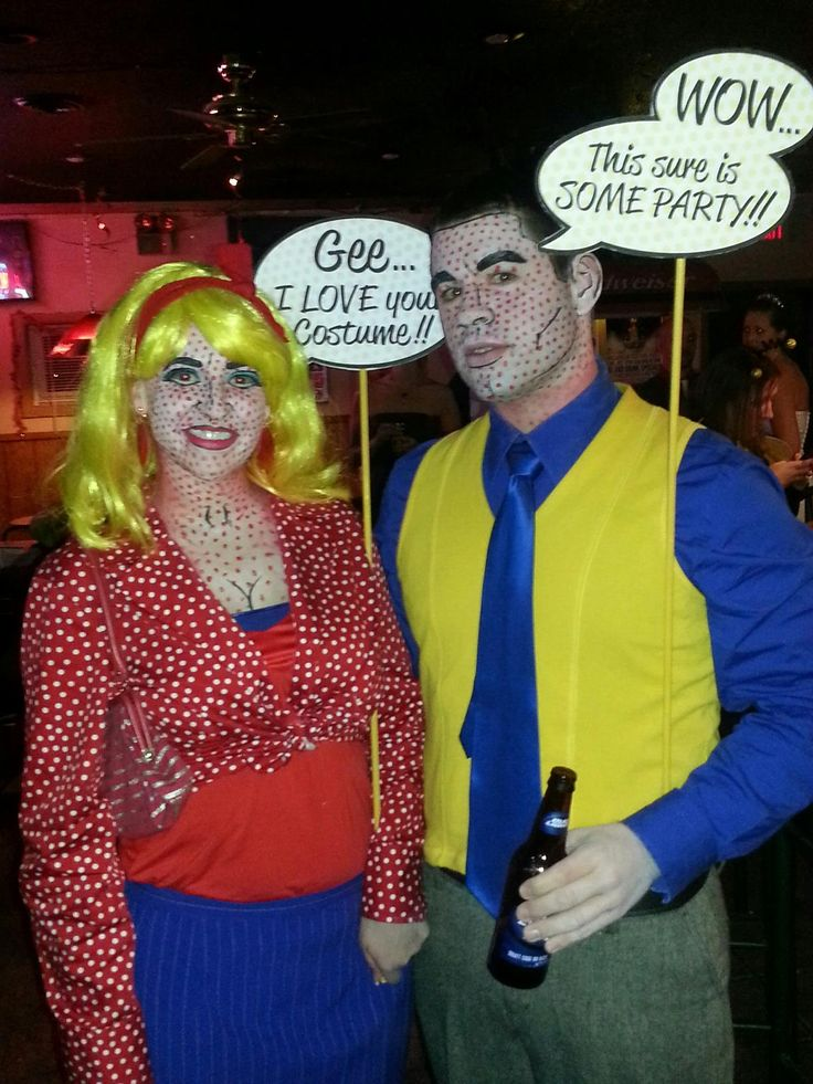 pop art halloween costume and makeup - Art Costumes Halloween
