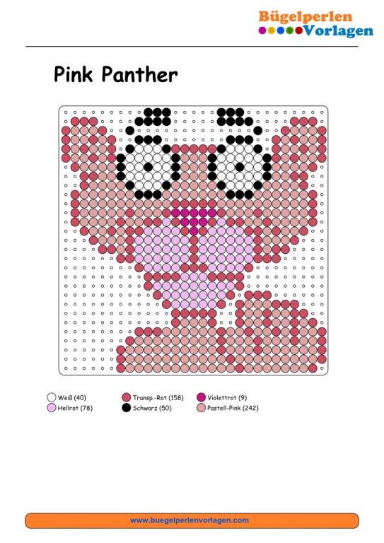 Pink Panther Bügelperlen Vorlage