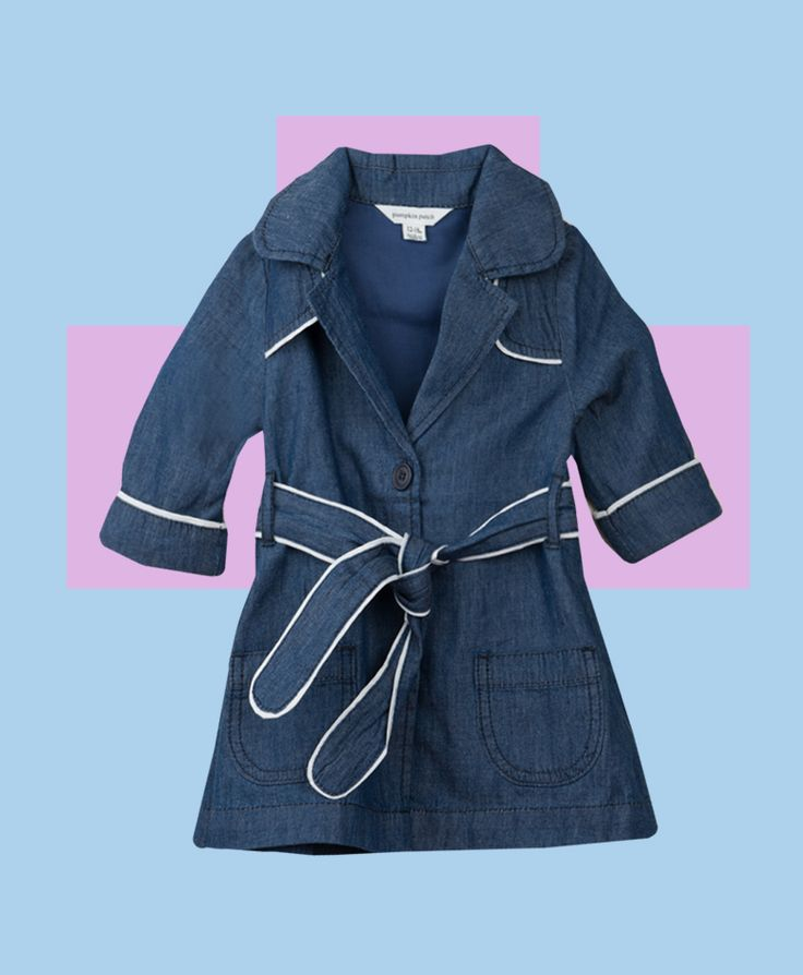 Pumpkin Patch Piped Trench Coat - 100% cotton, available in sizes 12-18m to 6 years http://www.pumpkinpatchkids.com