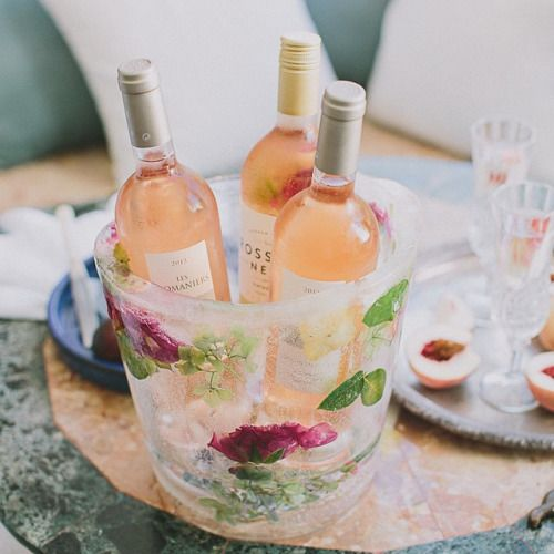 The Sunday Chapter: Summer DIY: Floral Ice Buckets