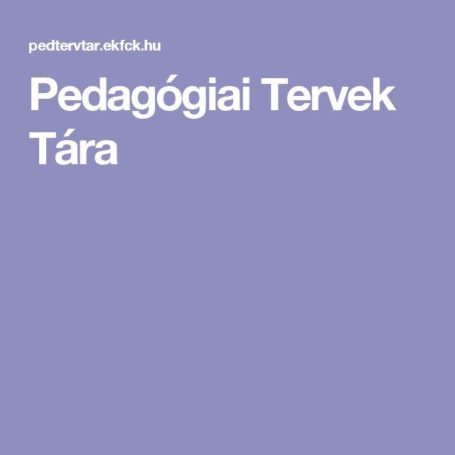 Pedagógiai Tervek Tára