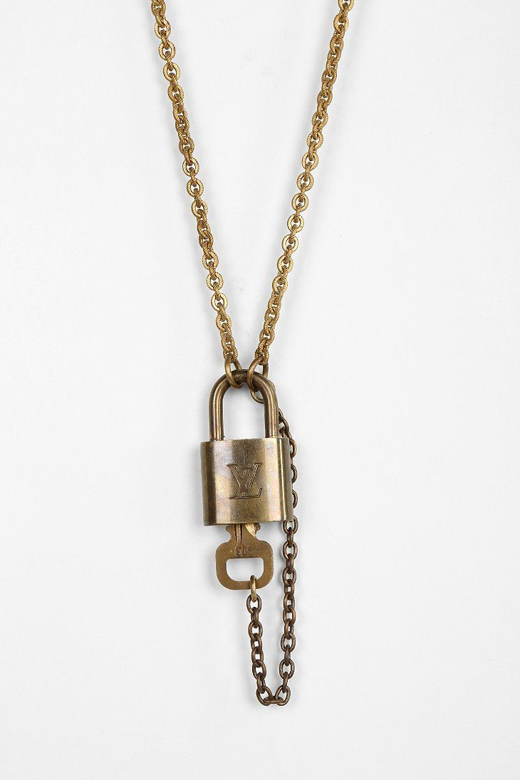 Lux Revival Louis Vuitton Padlock Necklace