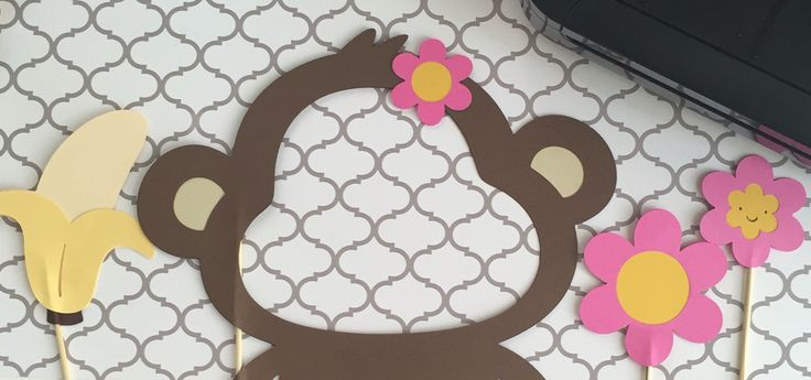 Mod Monkey - Photo Booth Props (Handmade by ME) Message Me for info!