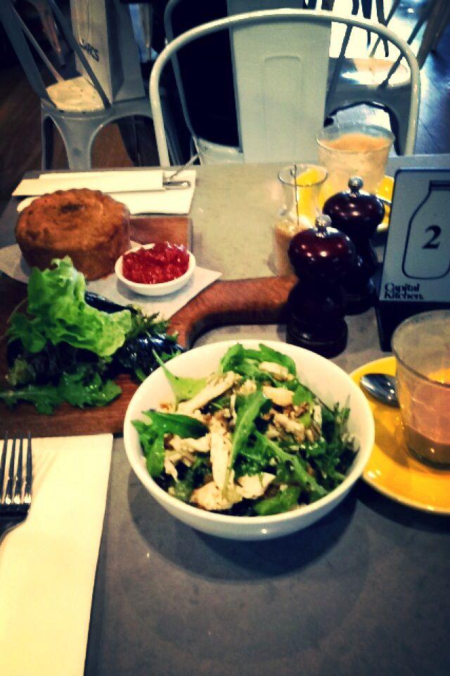 conviction kitchen chadstone chicken pie & salad