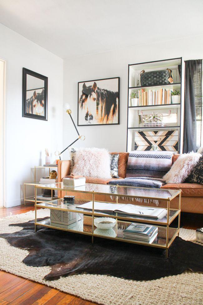 tour a western modern glam living room home decor ideas rh pinterest it