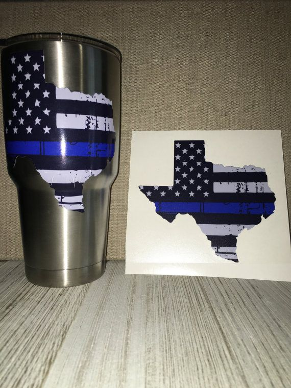 Texas thin blue line decal by VinalyDesigns on Etsy